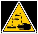 danger corrosif